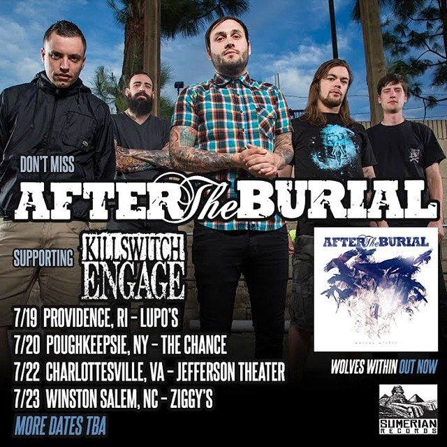 Congrats to AFTER THE BURIAL Free Tix Contest Winner Mike O'Connor! Enjoy the show this coming Monday 7/21 at the Harmony Grange!!! @aftertheburial  #northsidetattoosdotcom #northsidetattoos #nst #aftertheburial #sumerianrecords #metal #delaware #contest