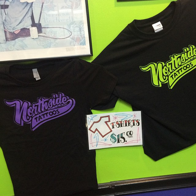 Northside Tattoos Shirts now available in Men's & Women's sizes XS-XXXL $15 at the shop #northsidetattoosdotcom #northsidetattoos #northsidetattoo #nst #delaware #tattooshop #tattoo