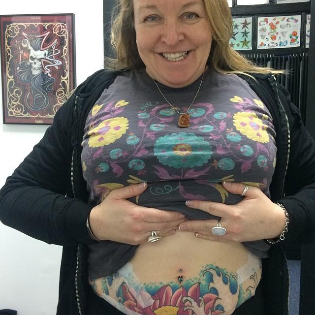 1st Navel Piercing by Amber Stankis, healed Lotus tattoo by Matt Stankis. Thank you Angela! #northsidetattoosdotcom #northsidetattoos #northsidetattoo #nst #apprenticepiercer #amberstankis #navelpiercing #delaware