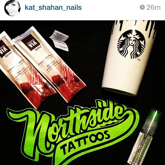 Give our girl @kat_shahan_nails a follow on Ig for a chance to win a few of her favorite things including  a full set of nails by her, a Northside Tattoos shirt & $25 gift certificate toward a tattoo or piercing, Starbucks & beauty product swag. Make sure to follow the instructions on how to enter and good luck from the NST Family! #northsidetattoosdotcom #northsidetattoos #northsidetattoos #delaware #contest #katshahannails
