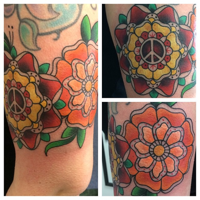 Neo-Traditional Mandala Flowers by Matt Stankis #northsidetattoosdotcom #northsidetattoos #northsidetattoo #nst #mattstankis #tattoo #neotraditional #neotrad #colortattoo #bright_and_bold #boldwillhold #tattoosforwomen #girlswithtattoos #eternalink #mandala #mandalatattoo #mandalaflower #mandalaflowertattoo #wilmingtonde #delaware