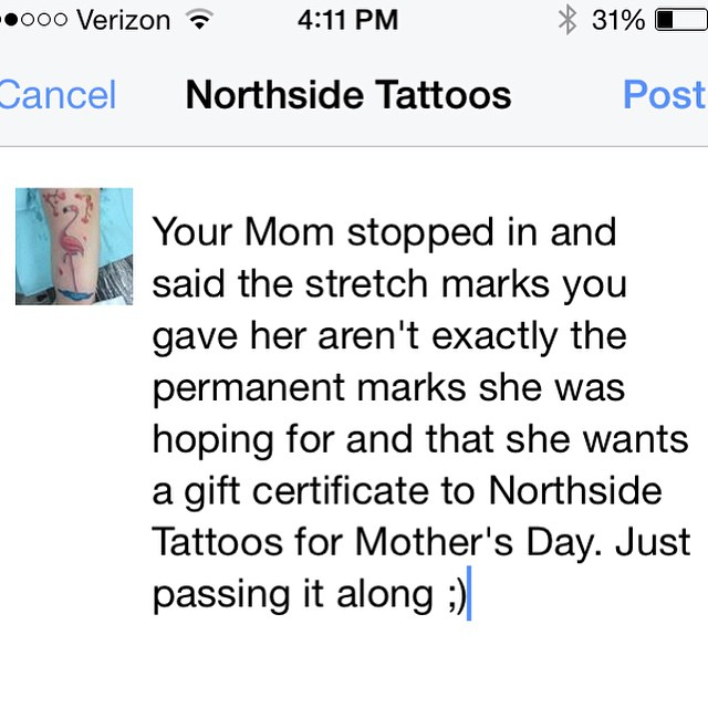 #northsidetattoosdotcom #northsidetattoos #northsidetattoo #nst #tattoo #wilmingtonde #delaware #mothersdaygift #momsrule