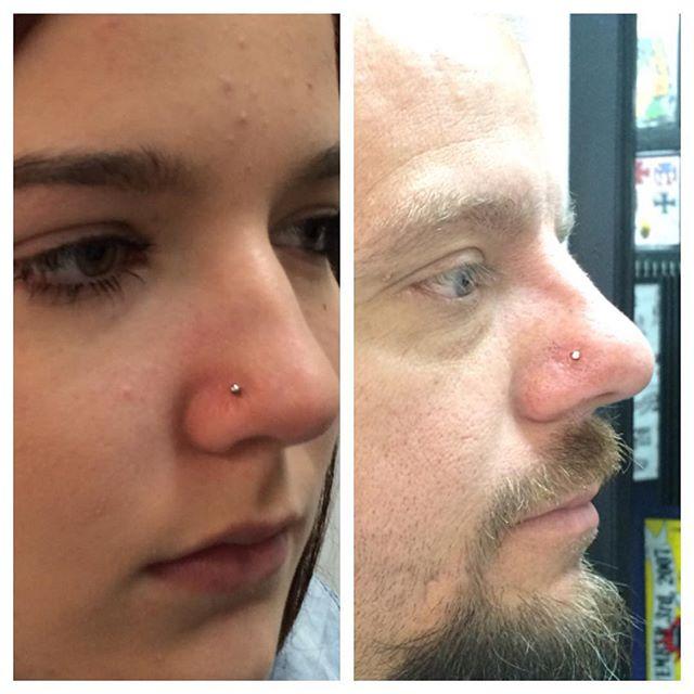 Nostril piercings by Amber Stankis @yesthatamber #northsidetattoosdotcom #northsidetattoos #northsidetattoo #amberstankis #piercing #piercings #nostrilpiercing #bodypiercing #wilmingtondelaware #delaware