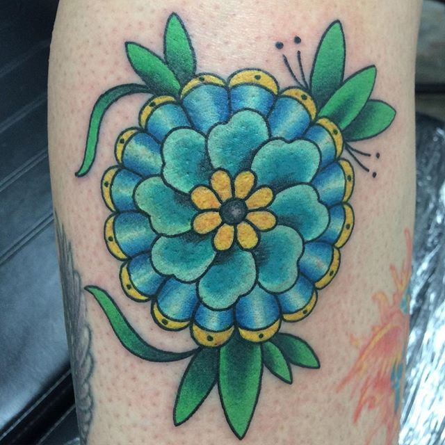 Neo-Traditional Mandala Flower by Matt Stankis #northsidetattoosdotcom #northsidetattoos #northsidetattoo #mattstankis #tattoo #neotraditionaltattoo #neotraditional #mandalaflower #colortattoo #eternalink #tattoosforwomen #wilmingtondelaware #delawaretattoo #delaware #nofilter