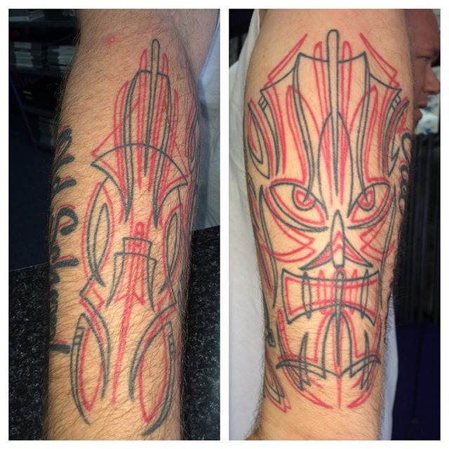 Healed pics of pinstriping tattoos, a couple years old, by Matt Stankis  #northsidetattoosdotcom #northsidetattoos #northsidetattoo #mattstankis #pinstriping #pinstriper #tattoo #tattoos #lineworktattoo #pinstripingtattoo #healedtattoo #wilmingtondelaware #delawaretattoo #delaware #nofilter